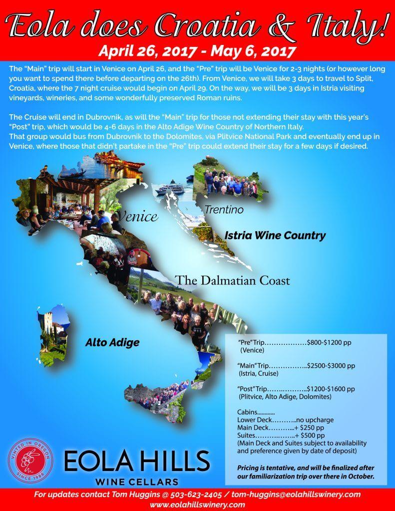 Bon Voyage Party - Eola Does Croatia & Italy @ Eola Hills Wine Cellars | Rickreall | Oregon | United States