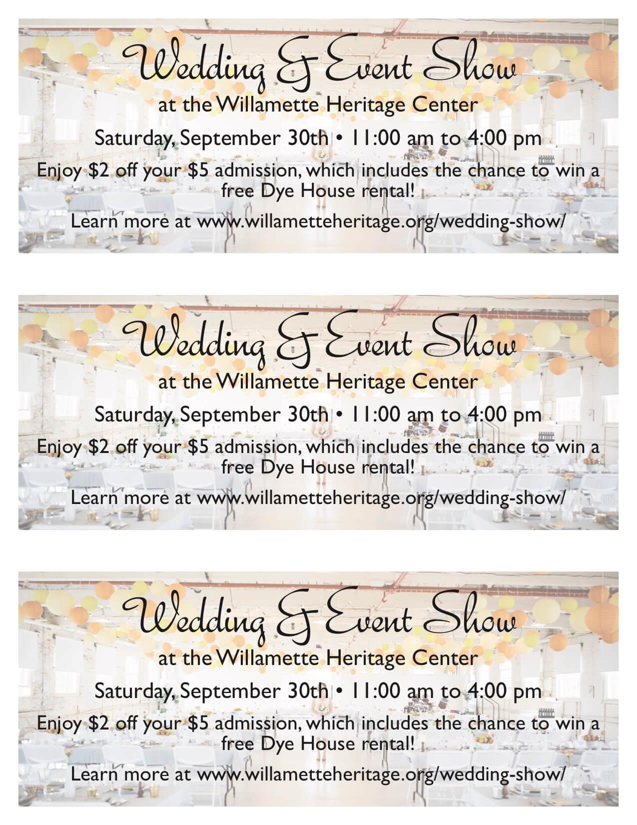 wedding show coupons eola hills
