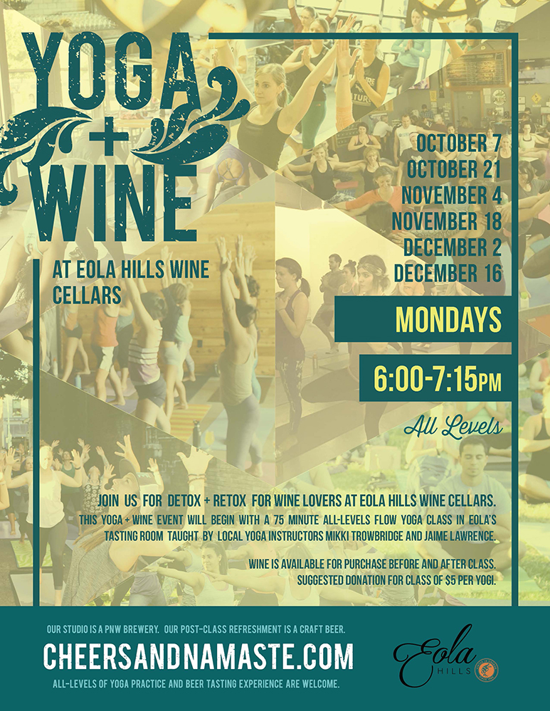 Yoga Benefit for Oregon Food Bank at Eola Hills Wine Cellars